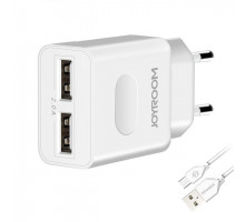 Joyroom L221 2*USB 2A +microUSB кабель