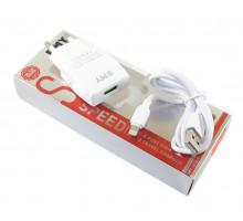 Emy MY-A101 5V/1A, White + кабель Apple