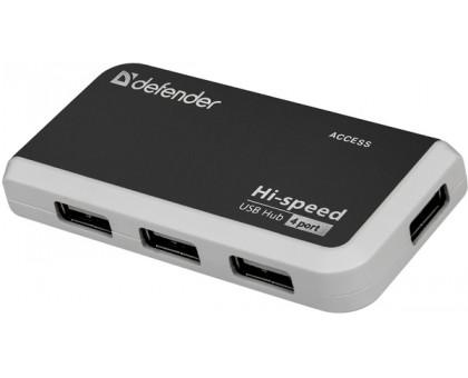 DEFENDER (83504)Хаб 4xUSB 2.0 QUADRO POWER+Adapter 220v