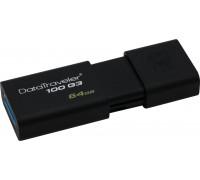 Kingston 64 GB DataTraveler 100 G3 Black USB 3.0 (DT100G3/64GB)