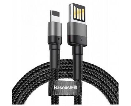 Apple Lightning Baseus Cafule (special edition) (CALKLF-GG1) чорно-сірий 1m
