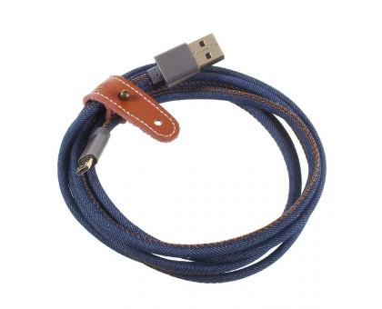 Micro USB B -> USB 1.2 m Remax Cowboy (RC-096m-1.2m-blue) синій