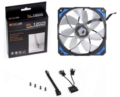 ID-Cooling PL-12025-B, 120x120x25мм, 4-pin PWM, черний з синім