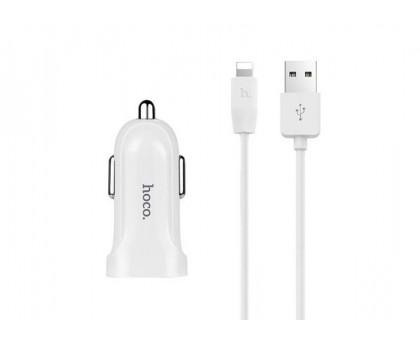 HOCO Z2 2*USB/1.5 А/5 V + кабель Lightning, White