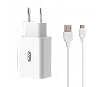 XO L35D White + кабель Micro USB 2*USB/2.1 A