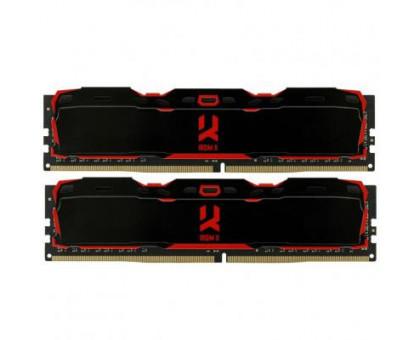 Goodram 16Gb (2*8Gb) 3000MHz Iridium X Black (IR-X3000D464L16S/16GDC)