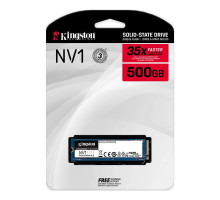 Kingston 500Gb NV1 M.2 2280 PCIe Gen3.0 x4 3D TLC (SNVS/500G)
