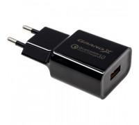 Grand-X CH-350B Black (CH-350B) Швидка зарядка QC 3.0 1*USB QC 3.0/2.1 A